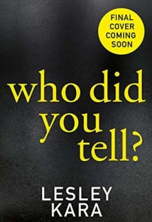 Who Did You Tell? Book Release Date? 2019 Publications